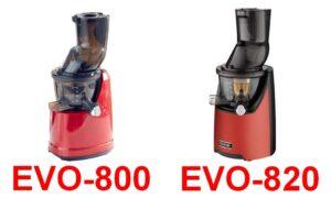 EVO800とEVO820の写真